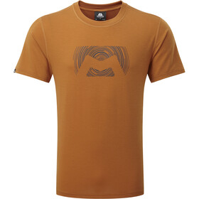 Mountain Equipment Groundup Logo+ Tee Herre pumpkin spice